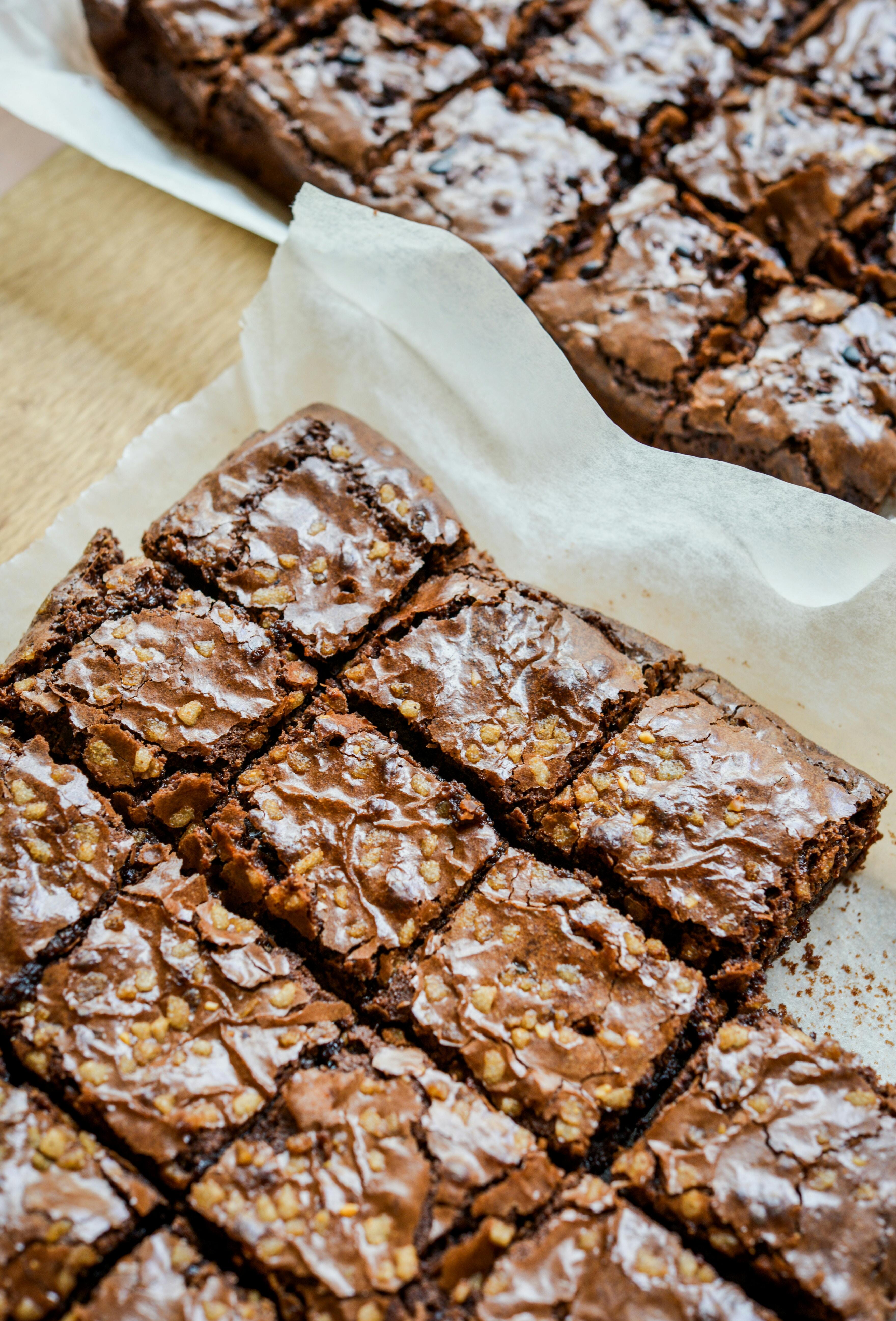 Süßkartoffel-Brownies mit Schokoguss